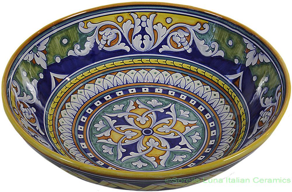 Italian Ceramic Majolica Bowl