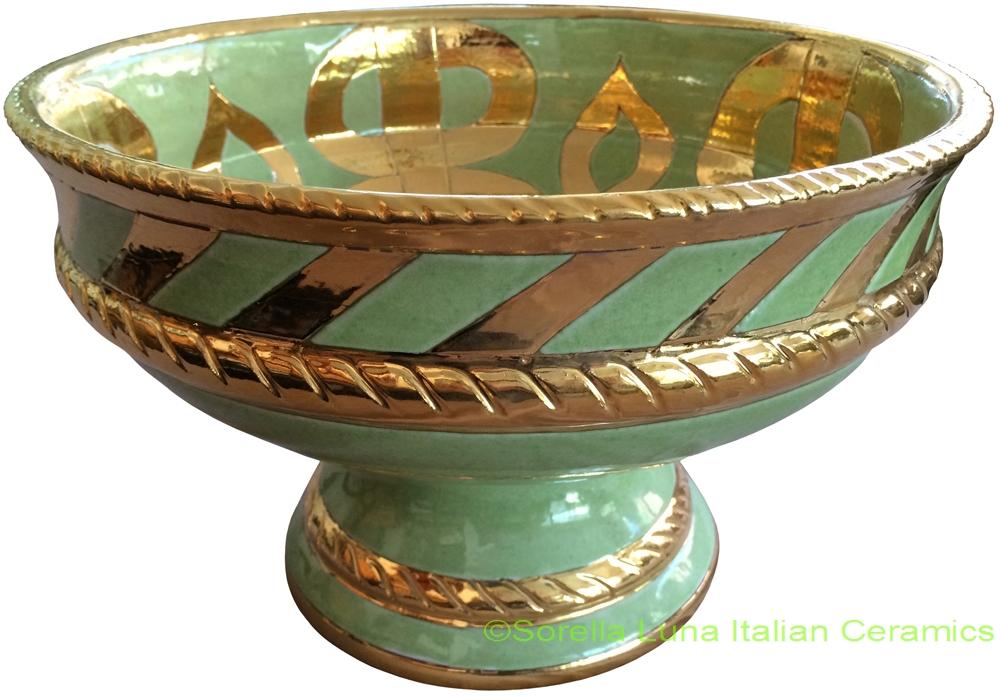 Italian ceramic footed bowls