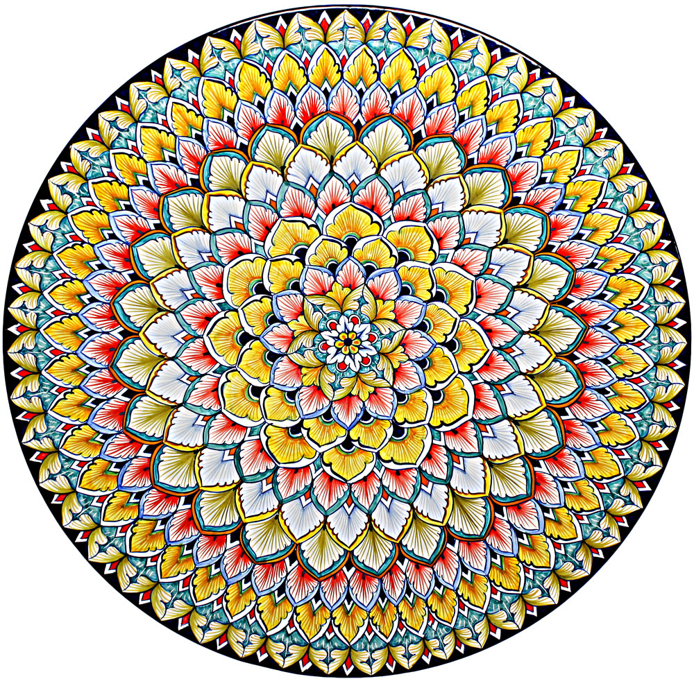 Italian Deruta Ceramic Majolica Plate | 47cm