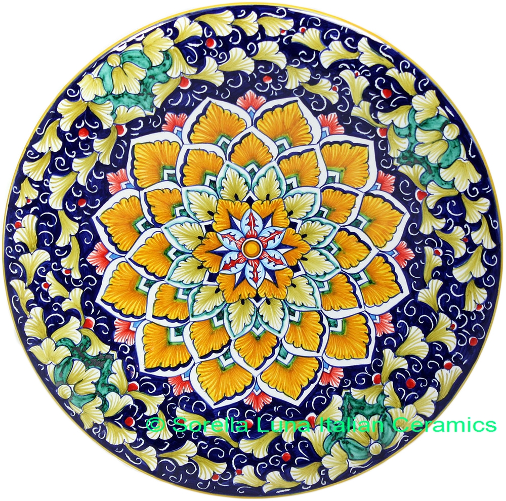 Hand painted ceramic plate 25cm for Where to buy ceramic plates to paint