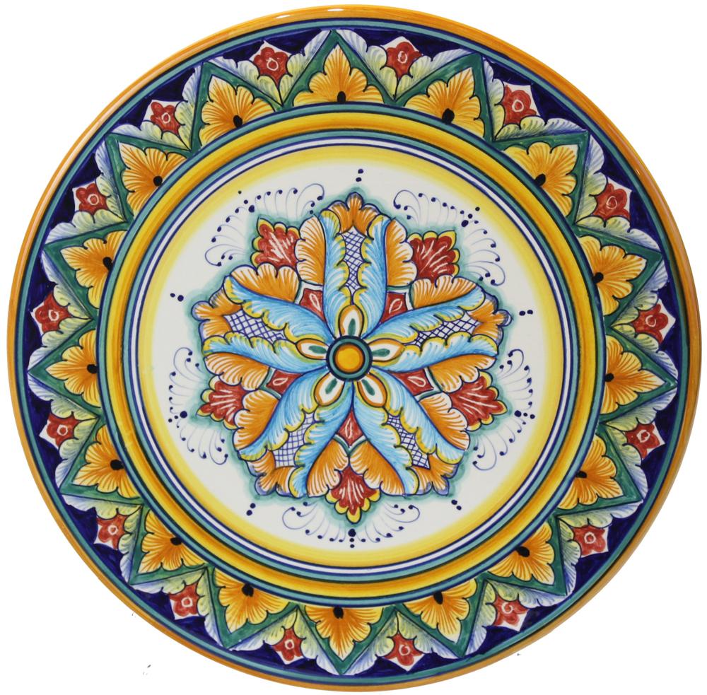 Deruta Italian Ceramic Cheese Plate  sc 1 st  Sorella Luna & Italian Majolica Ceramic Cheese Plate