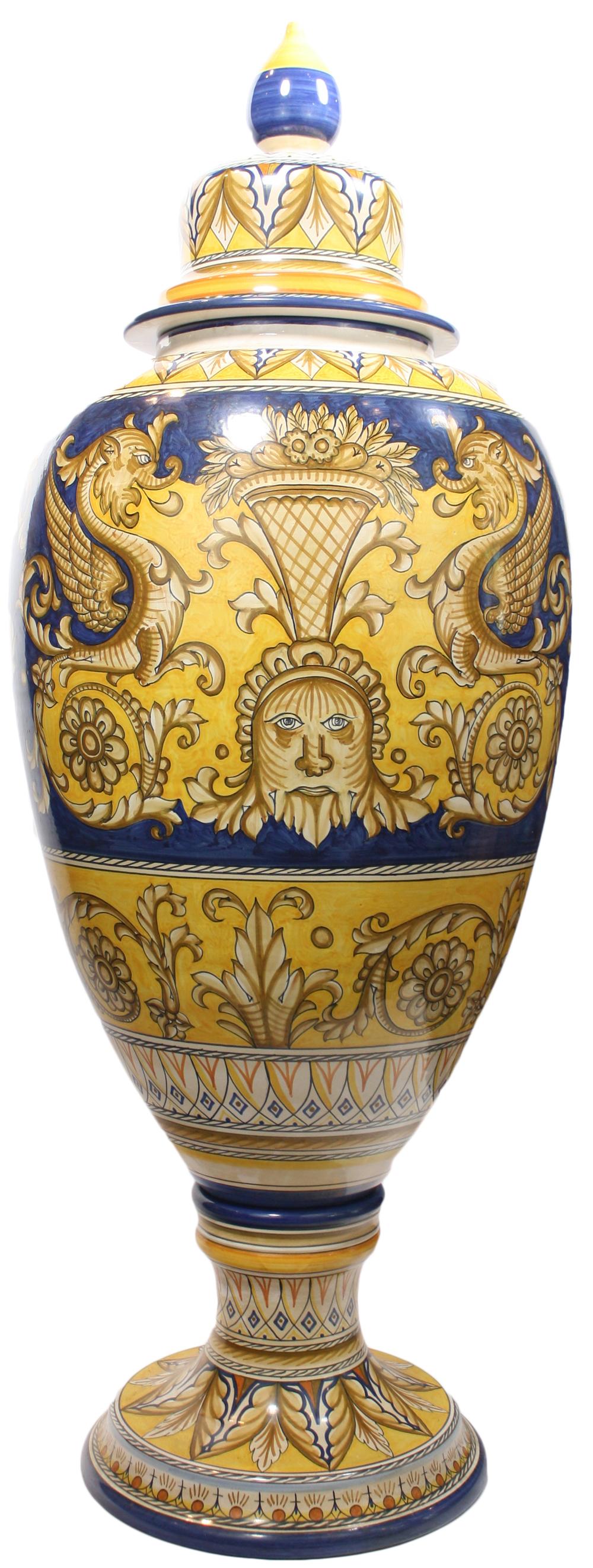 Italian Ceramic Floor Urn