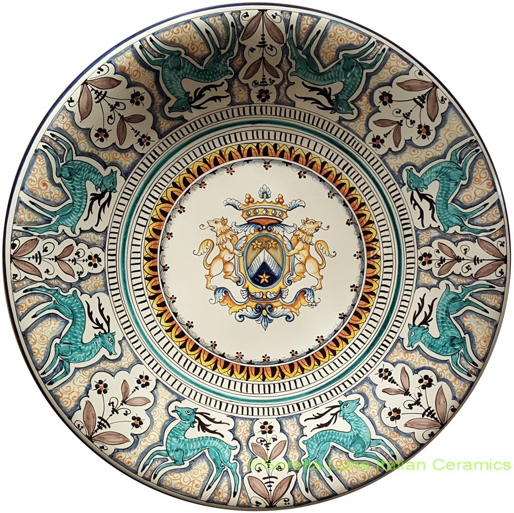 Decorative Wall Plates Italian : Hand painted italian ceramic plate