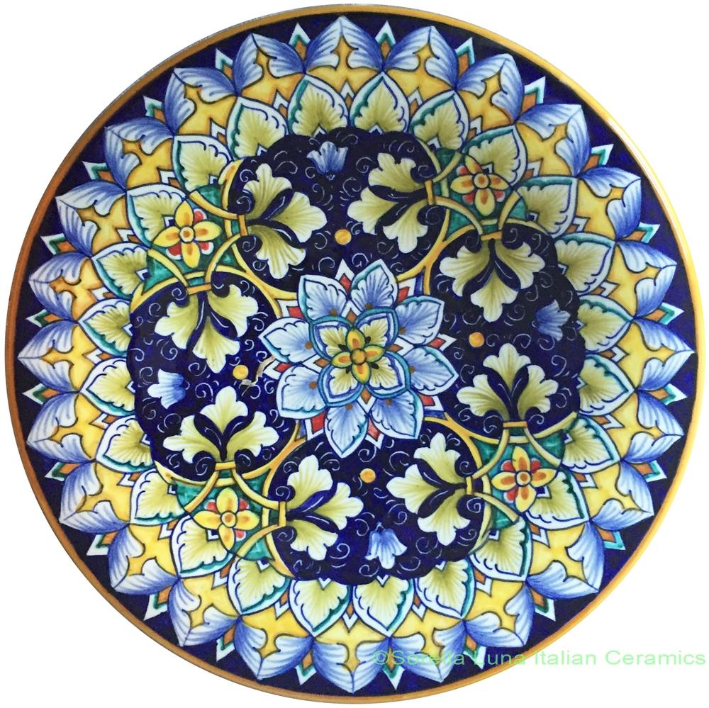 Hand Painted Ceramic Plate 25cm
