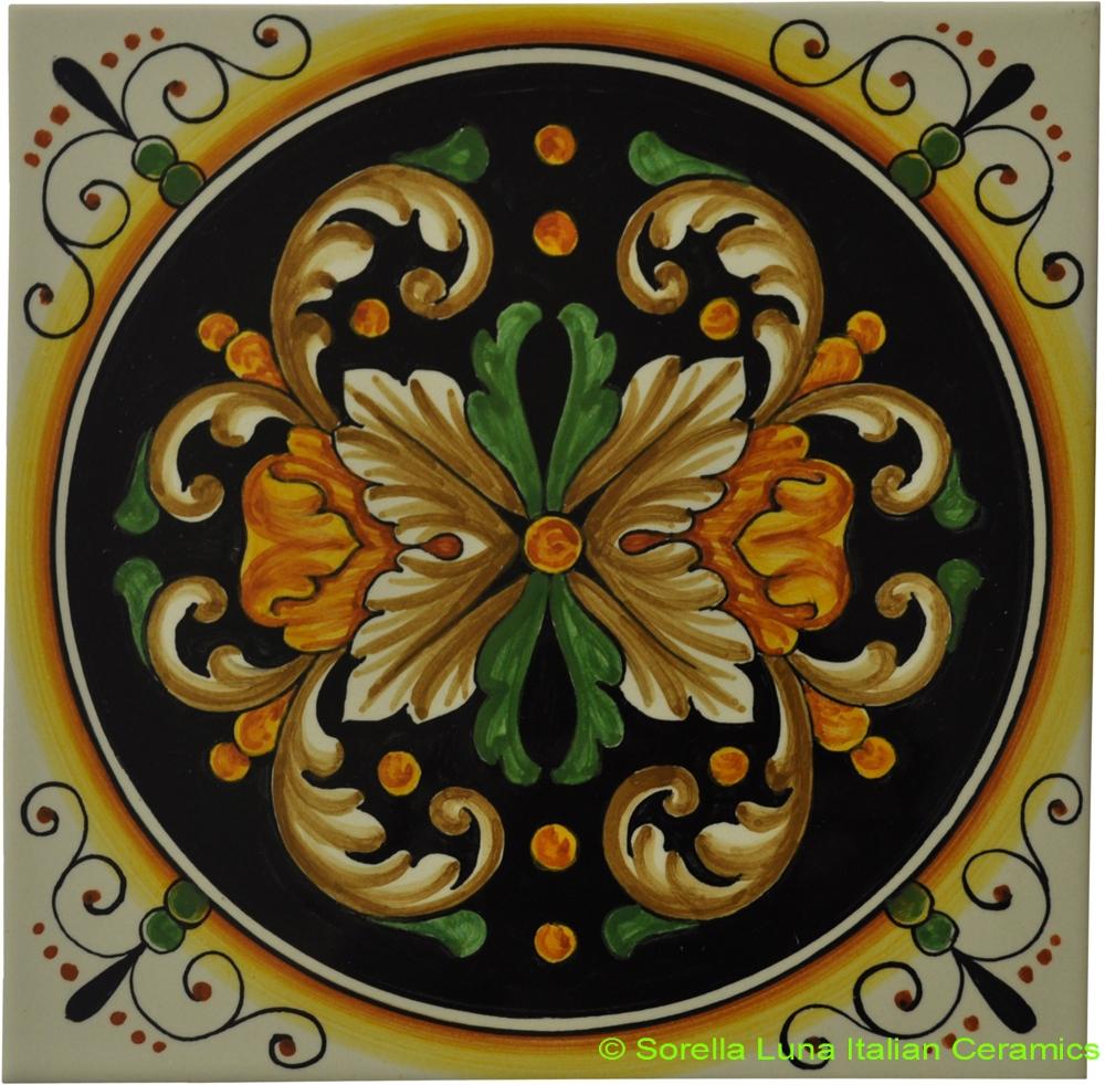 hand painted italian ceramic tiles. Black Bedroom Furniture Sets. Home Design Ideas