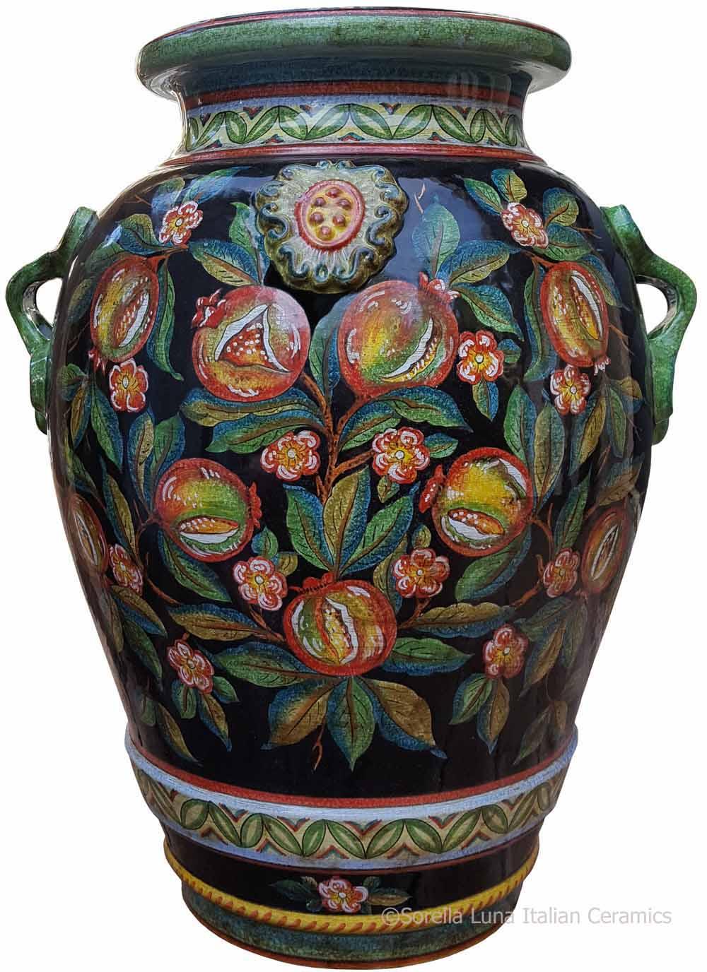 Italian Floor Vase on orange floor vase, mid century orange ceramic vase, floor candle holder vase, wicker floor vase, floor urn vase, floor glass vase,