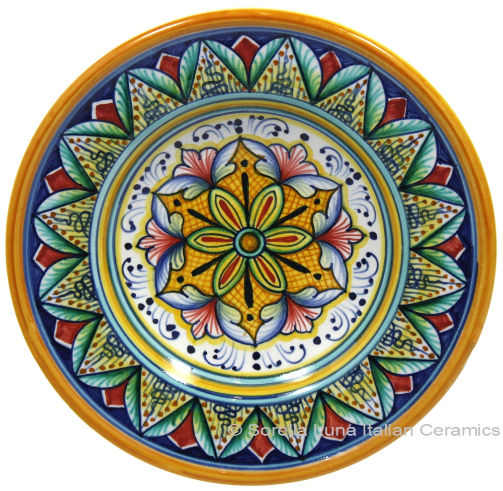Italian Hand Painted Ceramic Majolica Plate 15cm