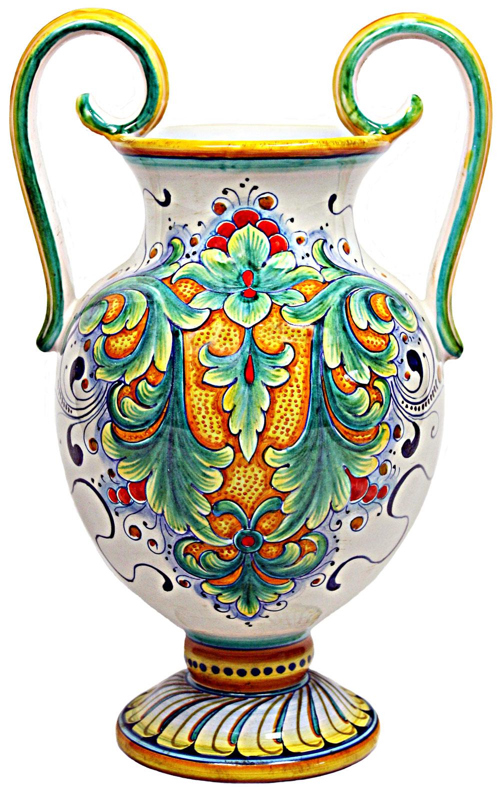 deruta italian ceramic vase d198