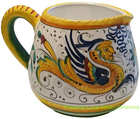 Deruta Italian Ceramic Creamer Raffaellesco