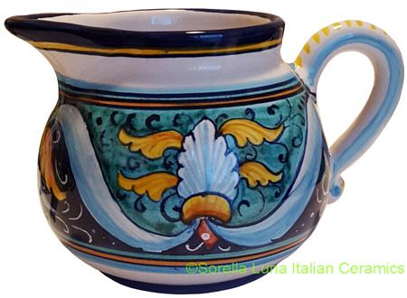 Deruta Italian Ceramic Creamer Ricco Vario