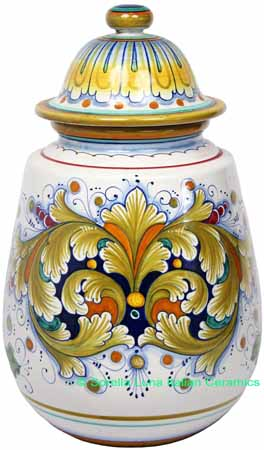 Italian Ceramic Decorative Urn