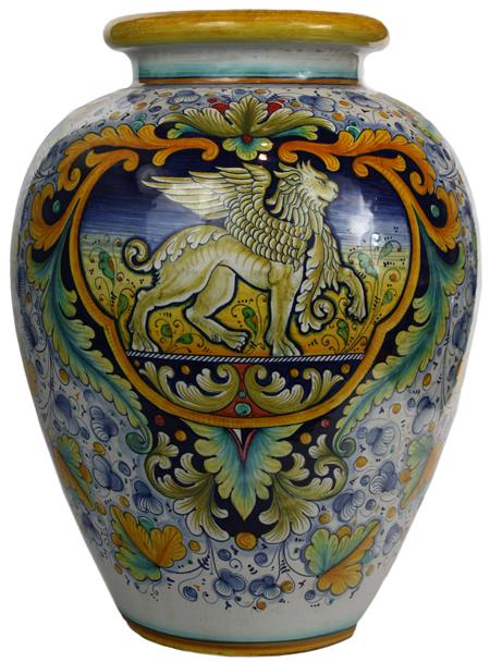 Italian Ceramic Floor Vase
