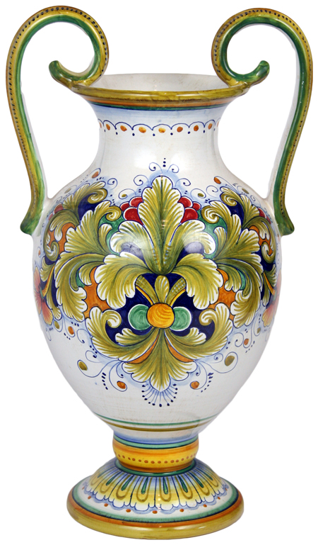 Italian Ceramic Table Vase - Acanthus