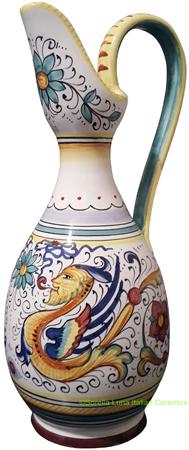 Ceramic Maiolica Amfora Pitcher Raffaellesco 23cm
