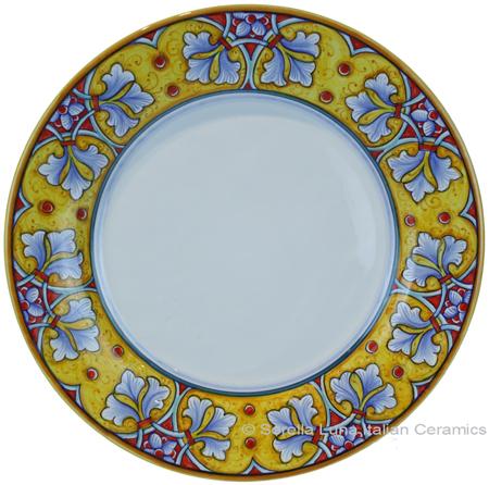 Deruta Italian Salad Plate - FDL Yellow/Soft Blue