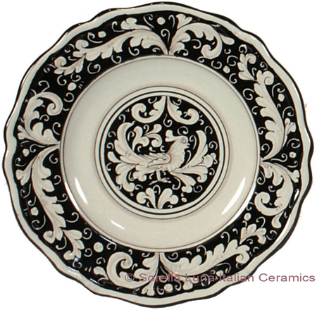Deruta Italian Salad Plate - Fondo Nero