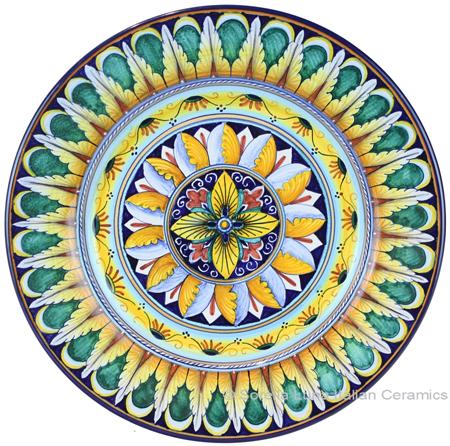 Deruta Italian Salad Plate - Geometrico