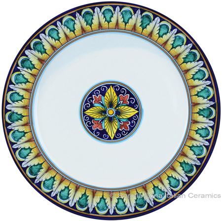 Deruta Italian Charger Plate - Geometrico
