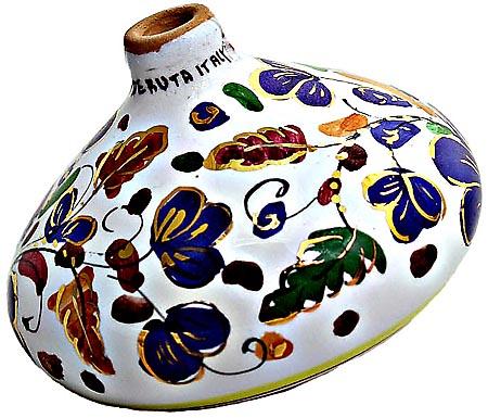 Ceramic Majolica Christmas Ornament Arabesco Blue