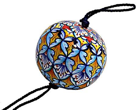 Ceramic Majolica Christmas Ornament Deruta Ricco 1 6cm