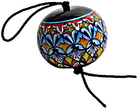 Ceramic Majolica Christmas Ornament Deruta Ricco F1 6cm
