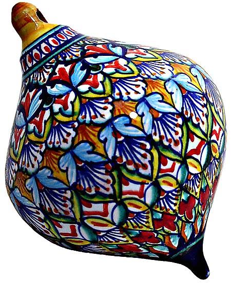 Ceramic Majolica Christmas Ornament Deruta Ricco V2 OV8