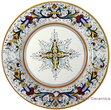 Deruta Italian Dinner Plate - Ricco Deruta with Center