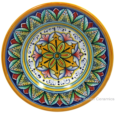 Hanging/Dipping Plate - Yellow Red - 15cm