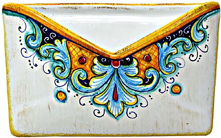 Ceramic Majolica Letter Holder Mail 193 18cm