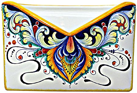 Ceramic Majolica Letter Holder Mail 193 24cm
