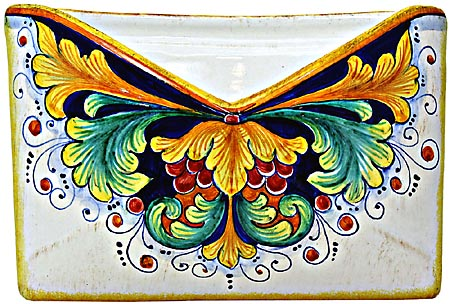 Ceramic Majolica Letter Holder Mail Ramina 24cm