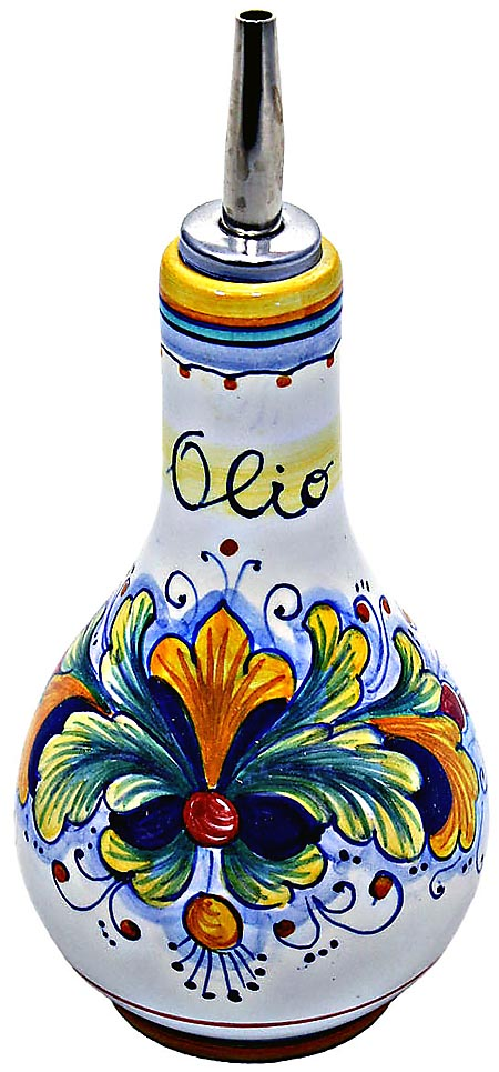 Ceramic Majolica Olive Oil Dispenser Ramina 90 16cm