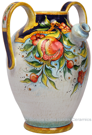 Ceramic Majolica Pitcher Pomegranate 890 42cm