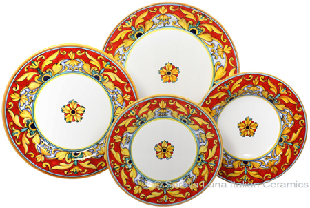 Deruta Italian Ceramic Dinner Place Setting - Brocatto
