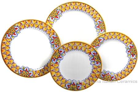 Deruta Italian Ceramic Dinner Place Setting - Summer