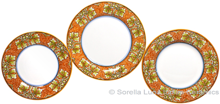 Deruta Italian Ceramic Dinner Place Setting - Autumn