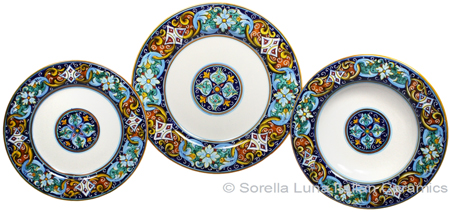 Deruta Italian Ceramic Dinner Place Setting - Ricco Vario 1