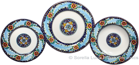 Deruta Italian Ceramic Dinner Place Setting - Ricco Vario 2