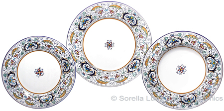 Deruta Italian Ceramic Dinner Place Setting - Rinascimento