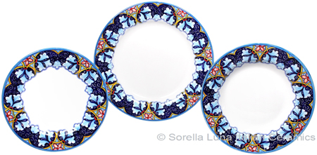 Deruta Italian Ceramic Dinner Place Setting - Winter