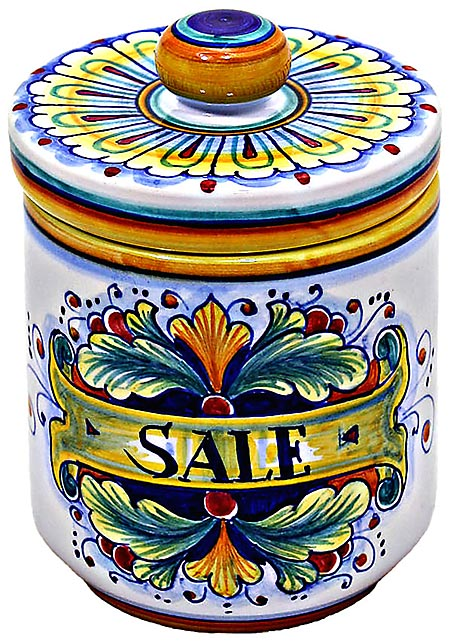 Ceramic Majolica Salt Jar 90 Ramina 13cm