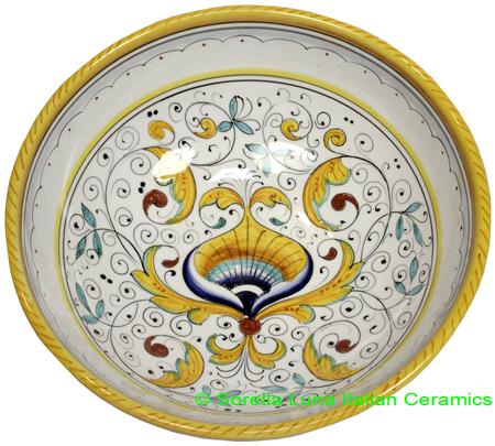 Ceramic Peacock Bowl