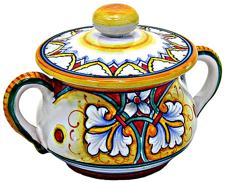 Deruta Italian Ceramic Sugar Bowl