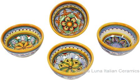 Italian Ceramic Majolica Vario Bowl set GG 8cm