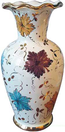 Deruta Italian Ceramic Vase - Autumn Leaves 20cm