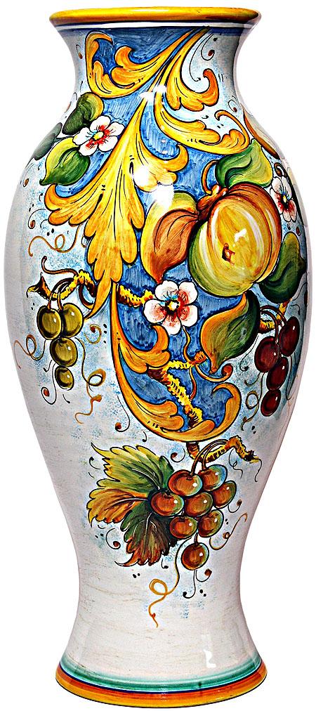 Deruta Italian Ceramic Vase - Frutta Festone - 50cm