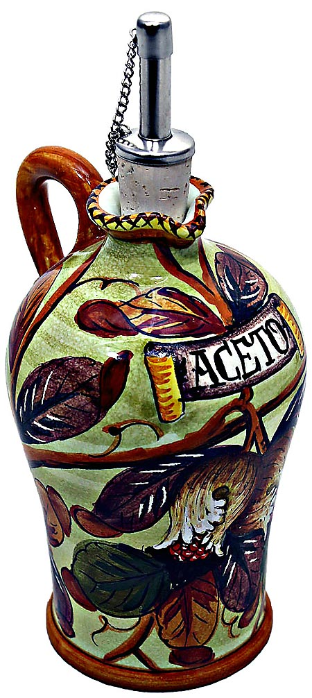 Ceramic Majolica Vinegar Dispenser Pomegranate N 20cm