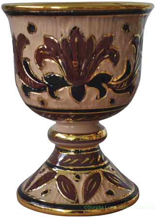 Wine Chalice/Goblet - Marrone Oro Graffito