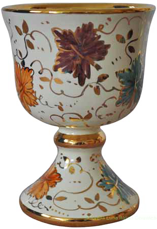 Wine Chalice/Goblet - Tralci e Oro (Autumn Leaves)