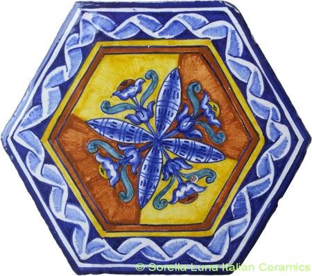 Tile Bologna Hexagonal Rose